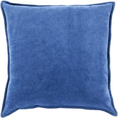 Cotton Velvet Poly Fill Pillow - Cobalt