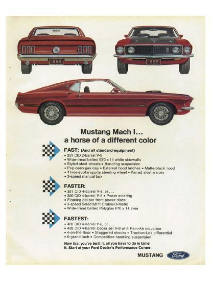 1969 Mustang Mach 1 Horse