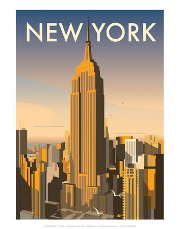 New York - Dave Thompson Contemporary Travel Print