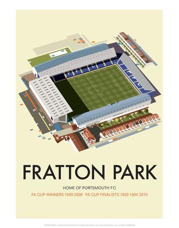 Fratton Park - Dave Thompson Contemporary Travel Print