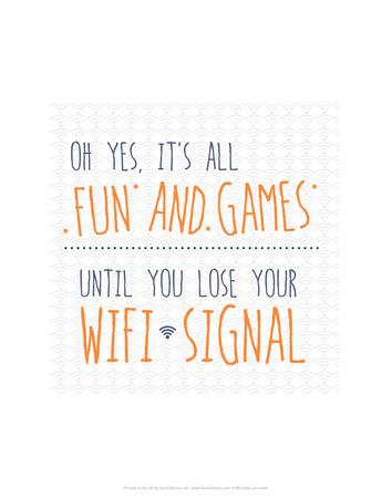 Wifi Signal - Wink Designs Contemporary Print