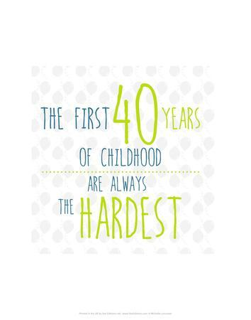 40 Years of Childhood - Wink Designs Contemporary Print