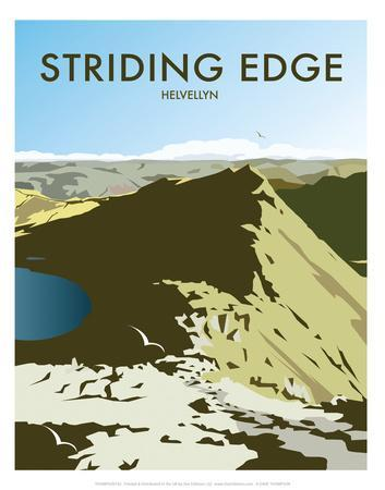 Helvellyn Edge, Lake District - Dave Thompson Contemporary Travel Print