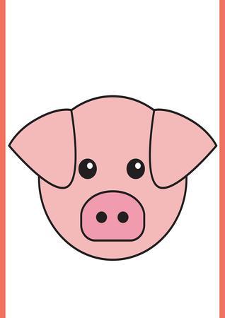 Pig - Animaru Cartoon Animal Print