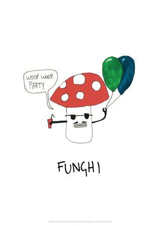 Funghi - Tom Cronin Doodles Cartoon Print