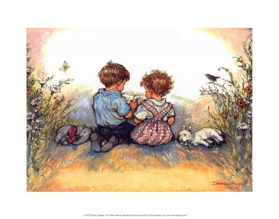 Reading - Alfie Illustrated Print