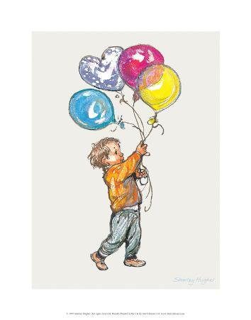 Balloons - Alfie Illustrated Print
