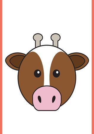 Cow - Animaru Cartoon Animal Print