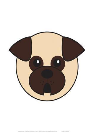 Pug - Animaru Cartoon Animal Print