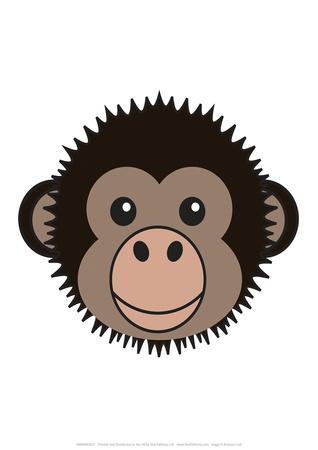 Chimp - Animaru Cartoon Animal Print