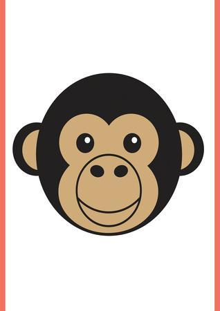 Monkey - Animaru Cartoon Animal Print