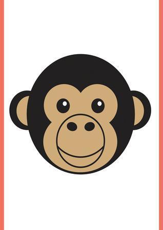 Monkey - Animaru Cartoon Animal Print