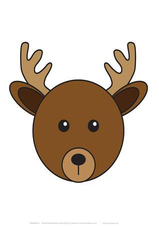 Deer - Animaru Cartoon Animal Print