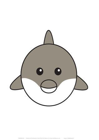 Dolphin - Animaru Cartoon Animal Print