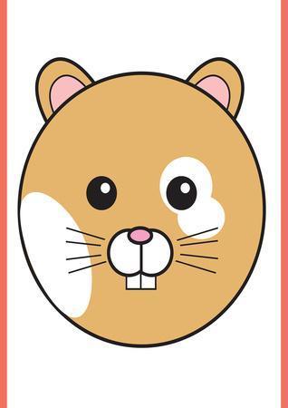 Hamster - Animaru Cartoon Animal Print