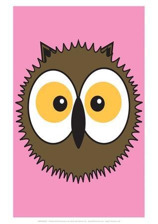 Owl - Animaru Cartoon Animal Print