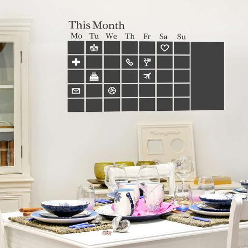 Chalkboard Calendar Wall Decal At Allposters Com