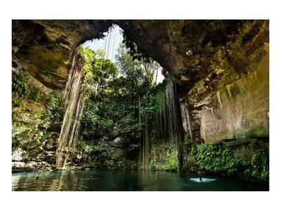Cenote Falls Chichen Itza Mexico