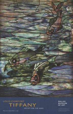 Window Panel with Swimming Fish