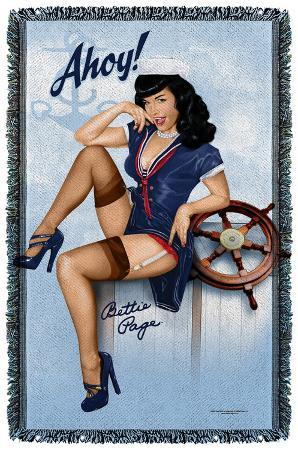 Bettie Page - Ahoy - Woven Throw