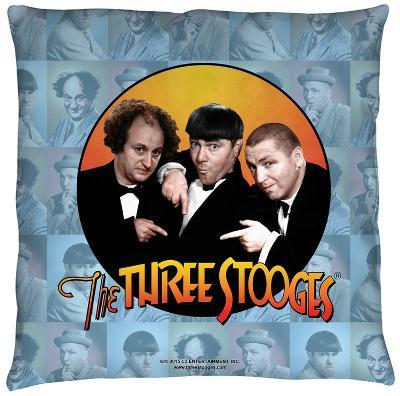 Three Stooges - Portraits Throw Pillow