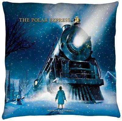 Polar Express - Poster Throw Pillow