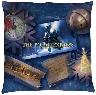 Polar Express - Scene Shapes Throw Pillow