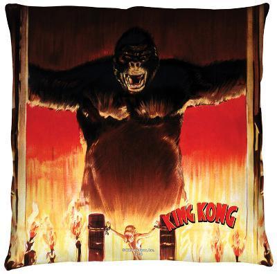 King Kong - At The Gates Throw Pillow