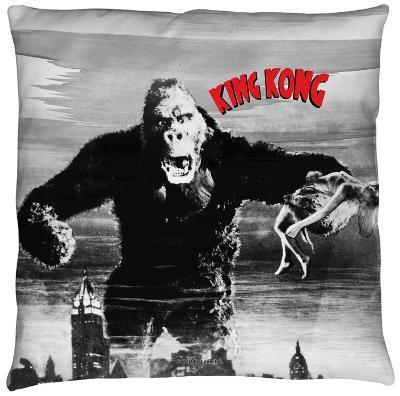 King Kong - Kong And Ann Throw Pillow