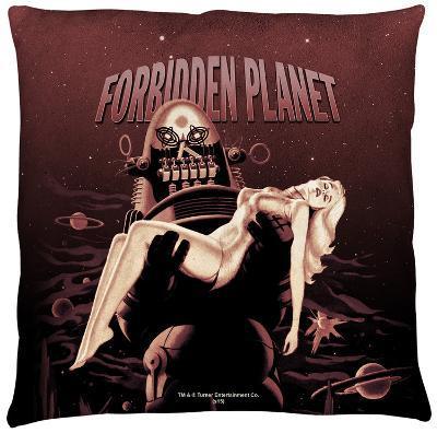 Forbidden Planet - Poster Throw Pillow