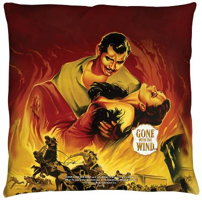 Gone With The Wind - Fire Poster Throw Pillow
