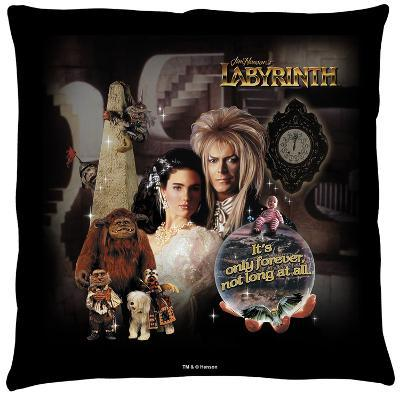 Labyrinth - Only Forever Throw Pillow