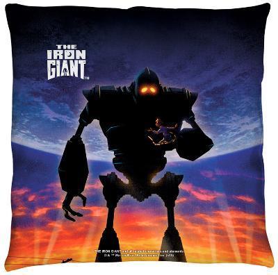 Iron Giant - Poster Throw Pillow