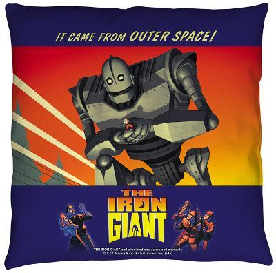 Iron Giant - It Came From Space Throw Pillow