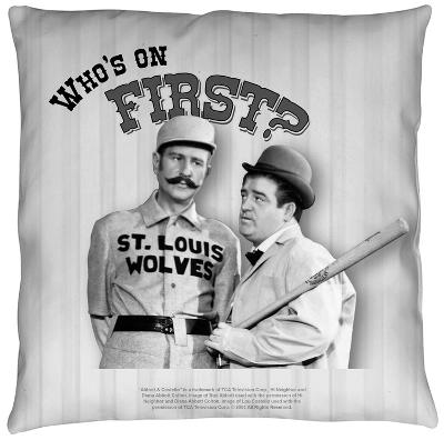 Abbott And Costello - First Throw Pillow