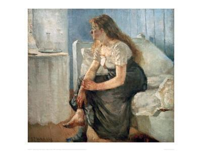 Morning, (Girl sitting on bed)