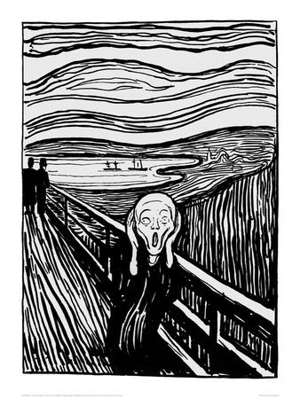 The Scream (Black and White)