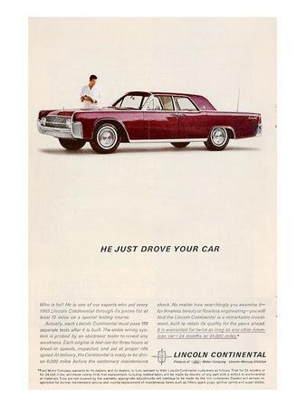 Lincoln 1962 - He Just Drove…