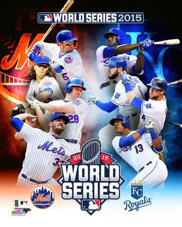 New York Mets Vs  Kansas City Royals 2015 World Series Matchup Composite