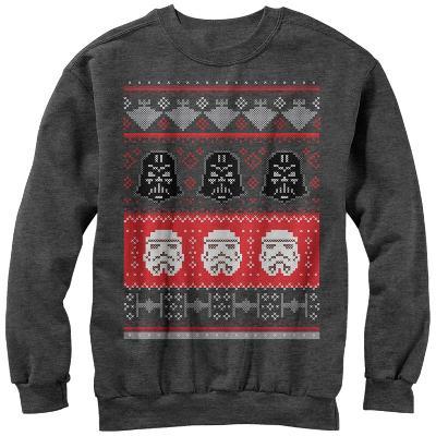 Crewneck Sweatshirt: Star Wars- Holiday Helmet