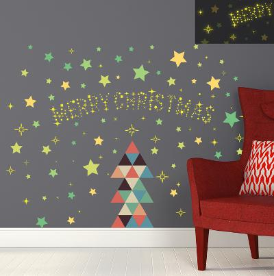 Christmas Triangle & Glow in the Dark Stars