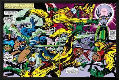 Black Panther No.2 Group: Black Panther, Princess Zanda and Hatch-22