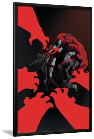 Thunderbolts #15 Cover: Elektra, Red Hulk, Deadpool, Punisher, Venom