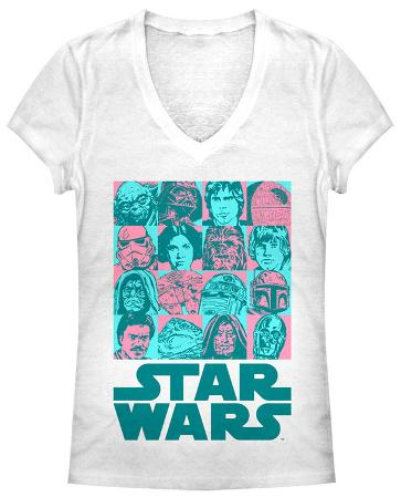 Women's: Star Wars- Faces of the Adventure V-Neck