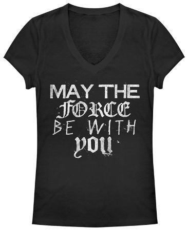 Women's: Star Wars- Mixed Fonts Force Quote V-Neck