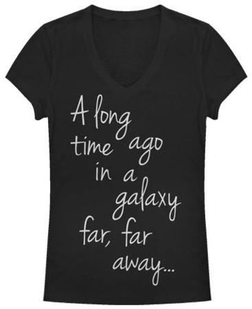 Women's: Star Wars- A Long Time Ago Script V-Neck