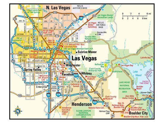 Las Vegas Nevada Area Map