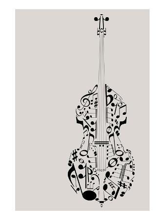 Contrabass of Musical Symbols