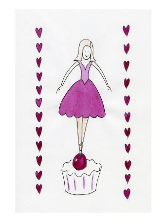 Ballerina on a Cherry Cupcake