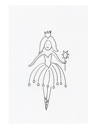 A Fairy Holding a Wand